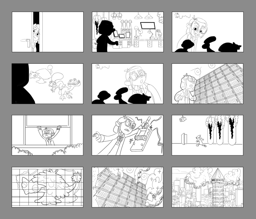 Early storyboard treatment by Feras Khagani