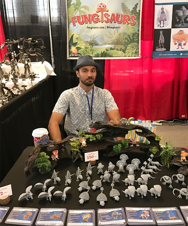 Aiman promoting Fungisaurs at 2016 DesignerCon