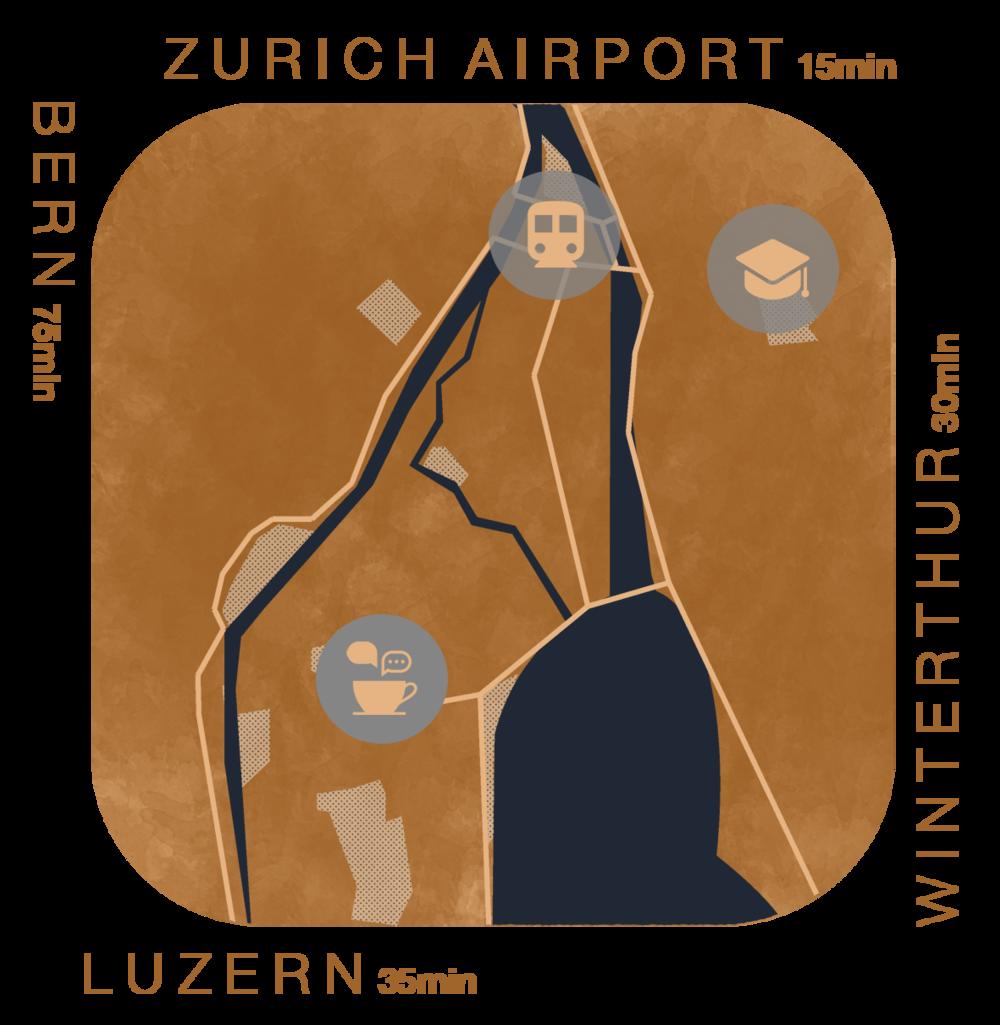 Vis-a-vis Train Station Enge5 min to sihlcity6 min to main train station9 min to bellevue - Tessinerplatz 7