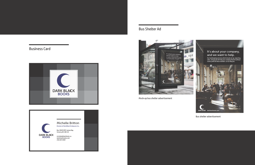 Business Card & Bus Shelter Advertisement