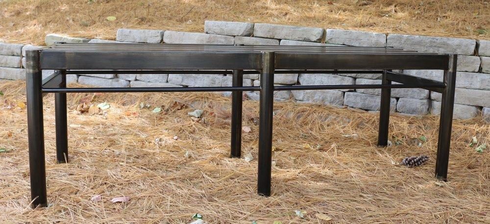 Pleasant Museum Bench Integral Iron Machost Co Dining Chair Design Ideas Machostcouk