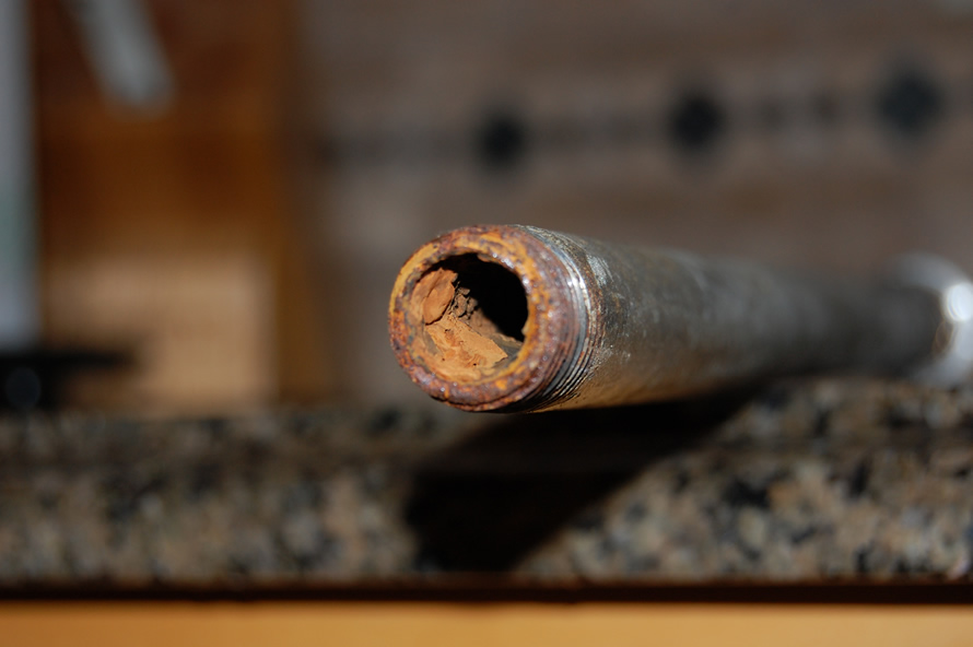 Your pipes might looklike this! - We specialize in diagnostics + home repair. Call us for a quote.