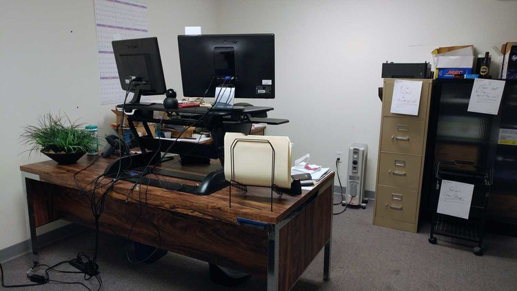 office makeover. This Office Lacked Organization, Proper Layout And Color. Makeover