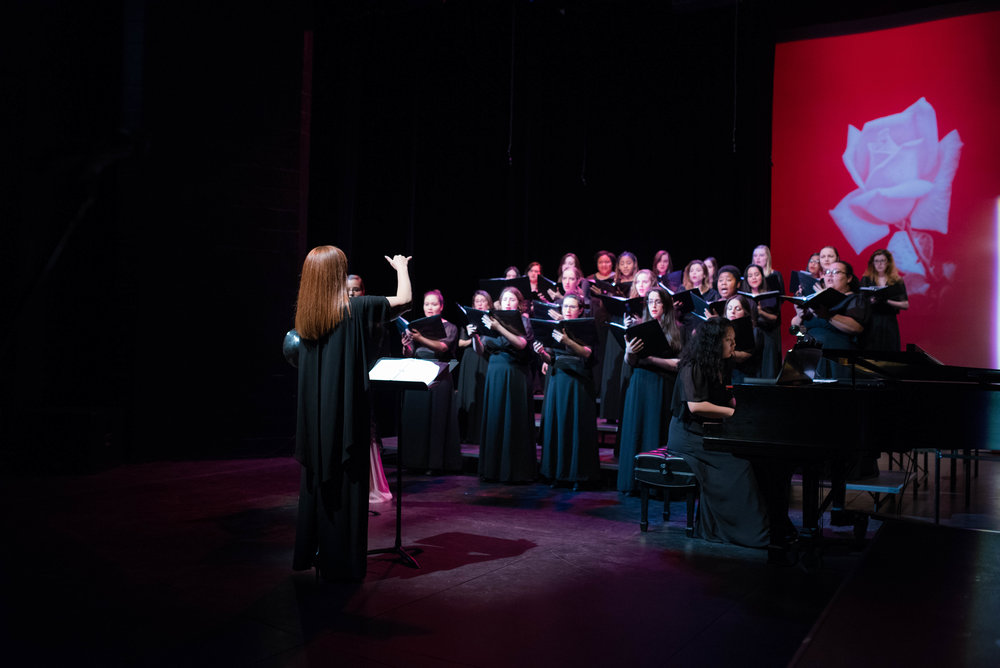 The WP Chamber Choir. Photo, Tim Miller.