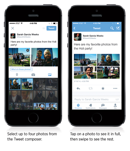 New Twitter Feature on Mobile: Upload up to 4 images