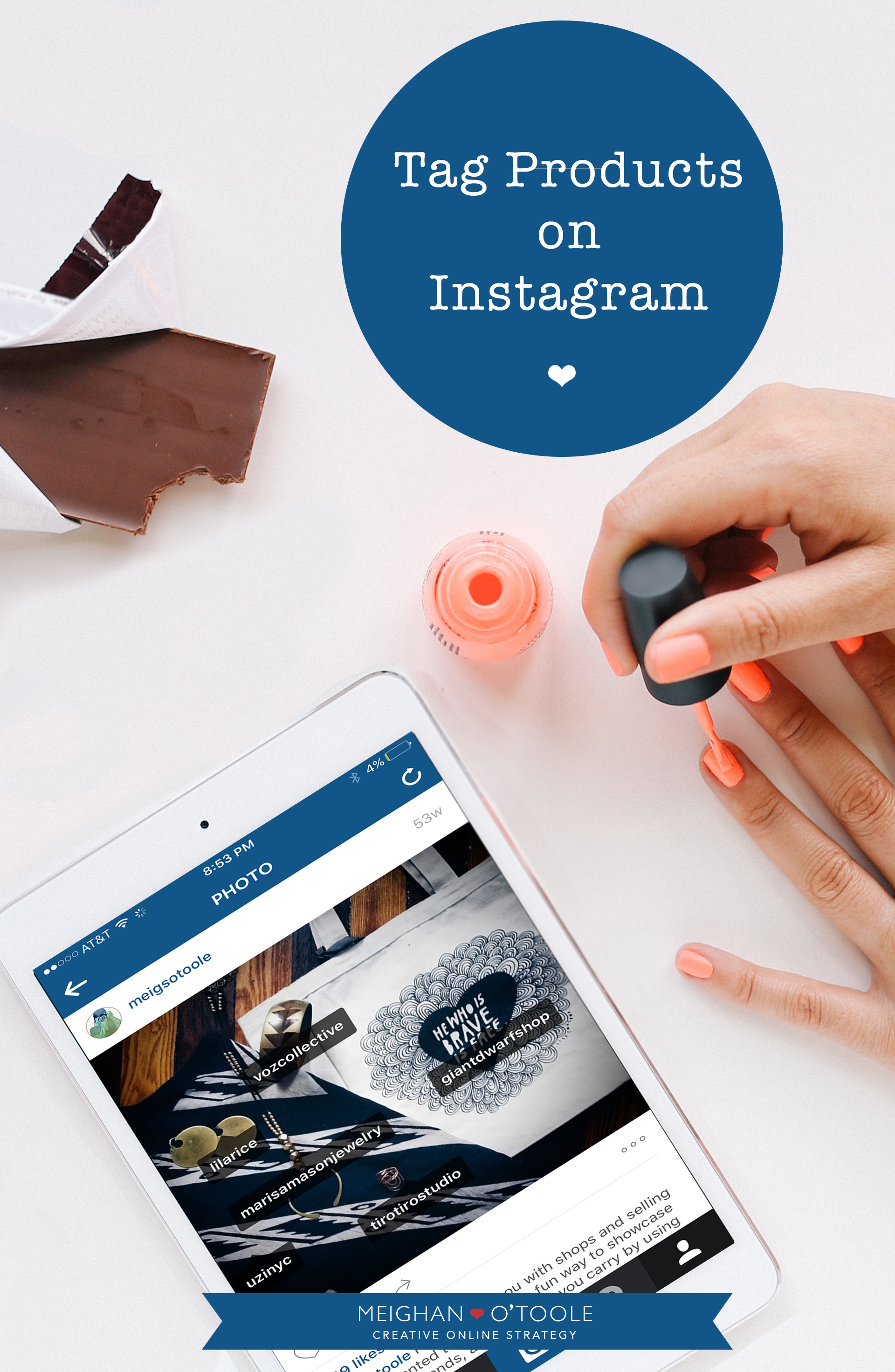 Use Instagram's tag feature to showcase products!