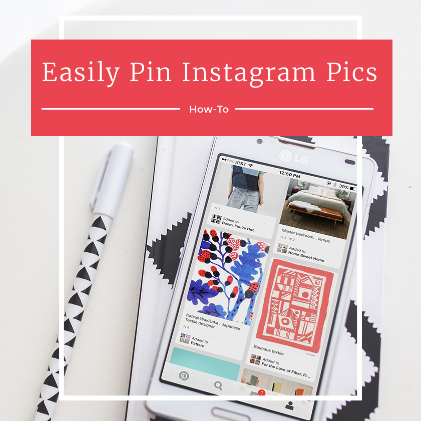Easily Pin your art and product shots from Instagram onto Pinterest