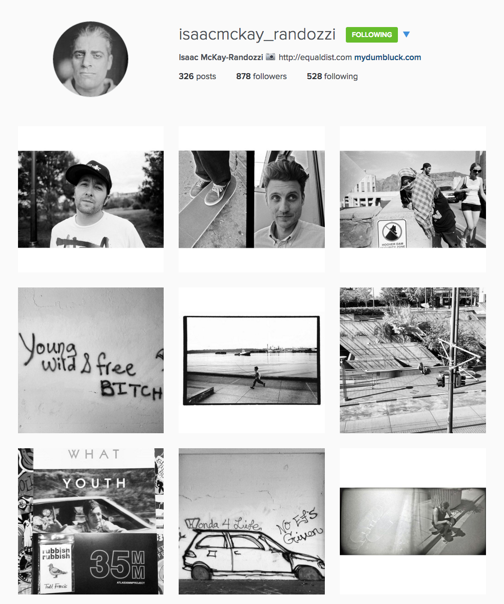 Tips for artists getting started on Instagram - Example of Isaac McKay-Randozzi's account