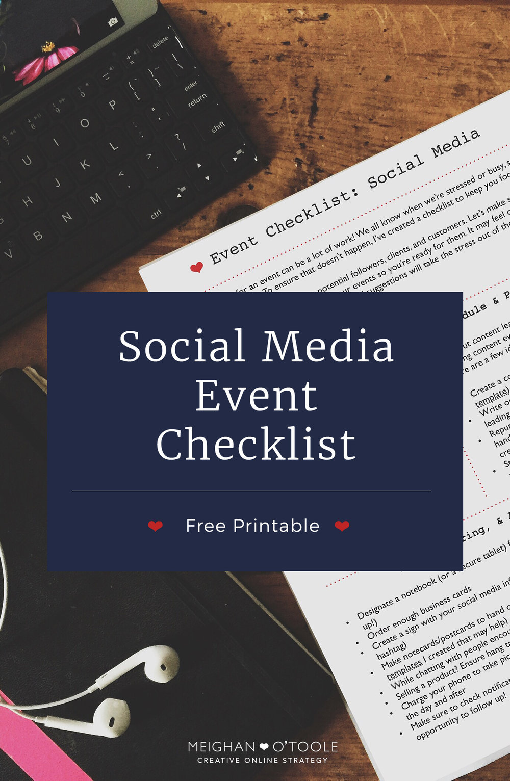 Free Printable: Event Checklist for Social Media