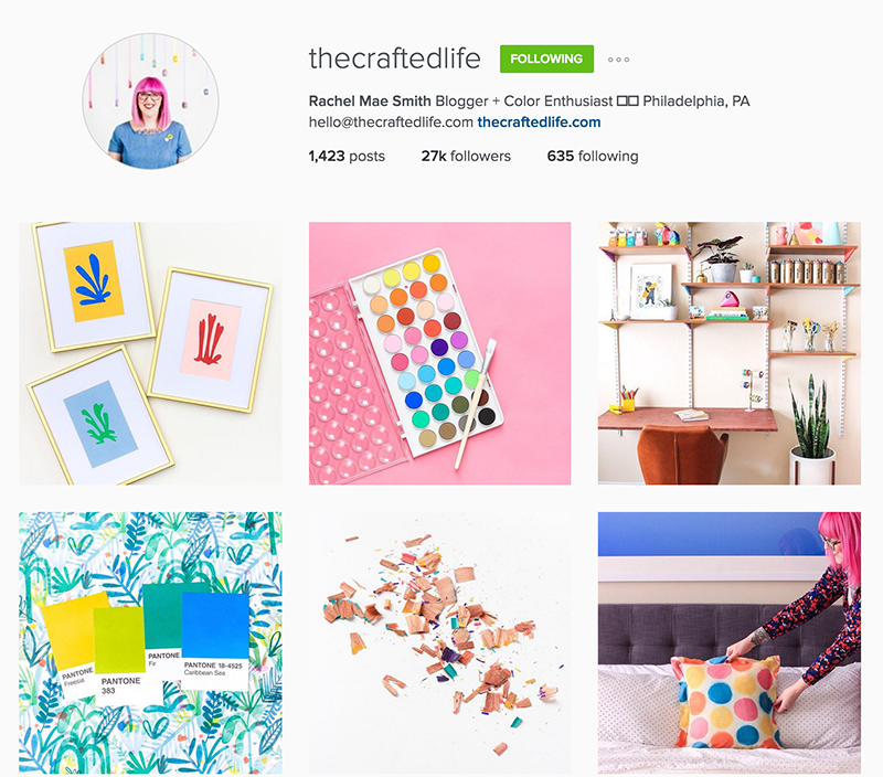 The Crafted Life does a fantastic job with creating a cohesive, beautiful Instagram feed