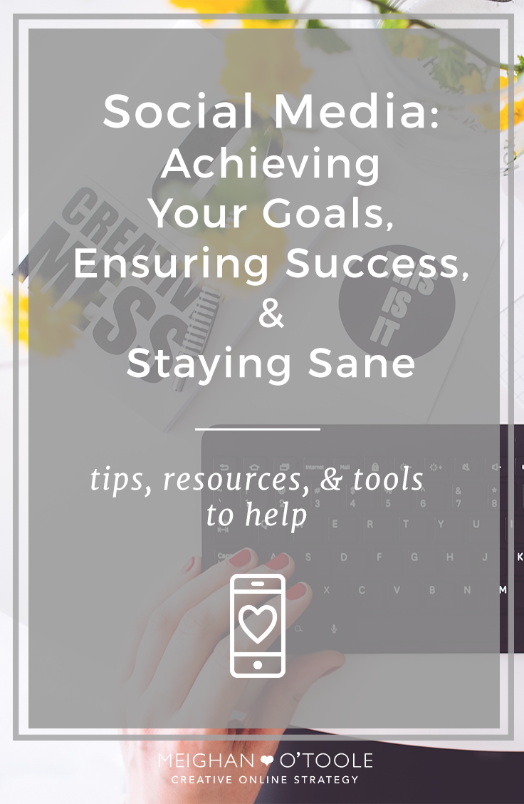 Social media doesn't have to be a stress inducing mess that makes you feel crazy at the last minute or like you're not doing enough. Use these tips and resources to ensure your success.