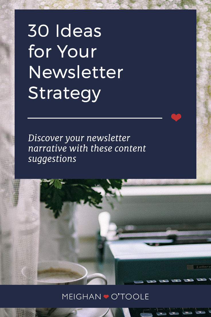 30 Ideas for Your Newsletter Content
