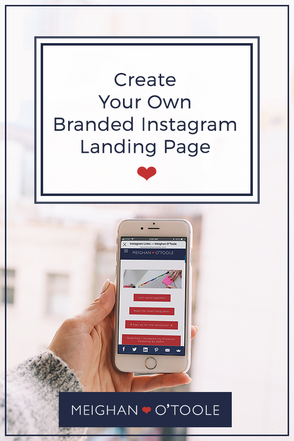 Create Your Own #LinkinBio Landing Page for Instagram