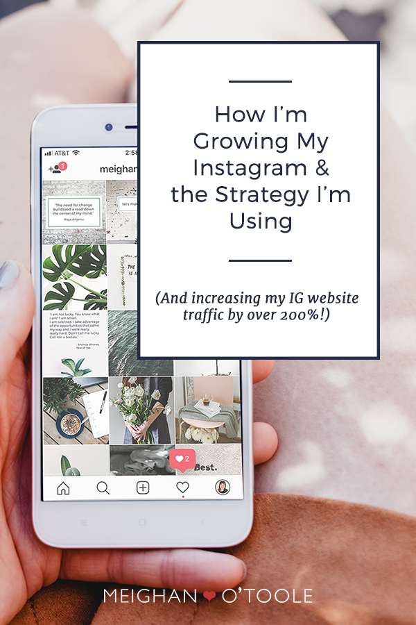 How I'm Growing My Instagram & the Strategy I'm Using