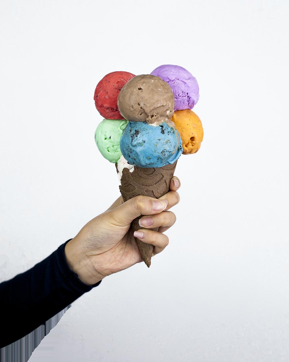 Stuffed Ice Cream 7 Scoops Bouquet