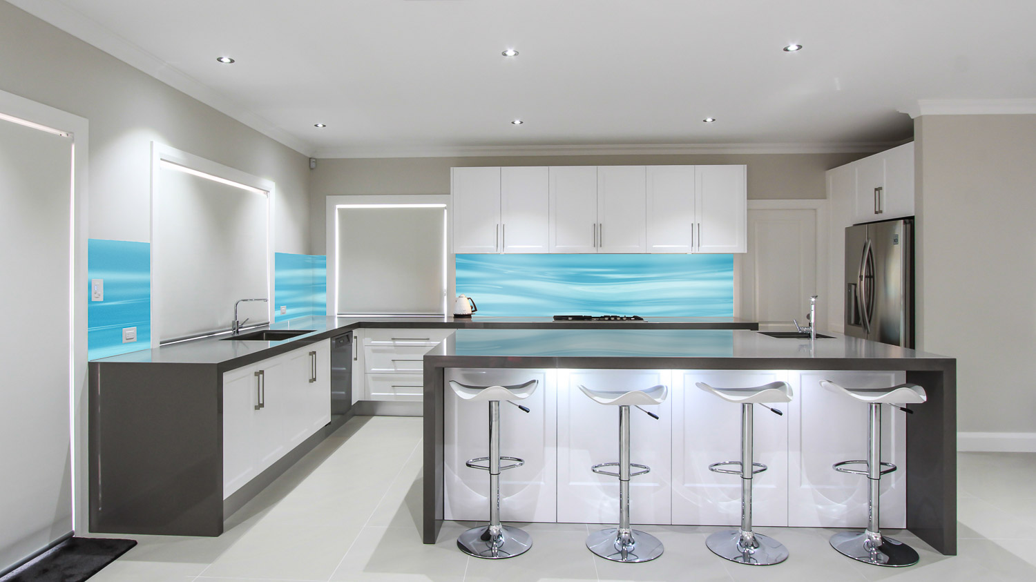 Funky Glass Kitchen Splashbacks Cost Images - Kitchen Cabinets ...
