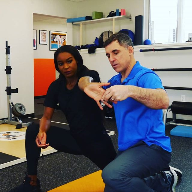 Fun week having @carlinemuir in town for a week with Joe Hayes, teaching ELDOA for spine and joint health and Myofascial stretches for health and performance.  For more info on ELDOA and classes visit the website #ELDOA #spinehealth #performance