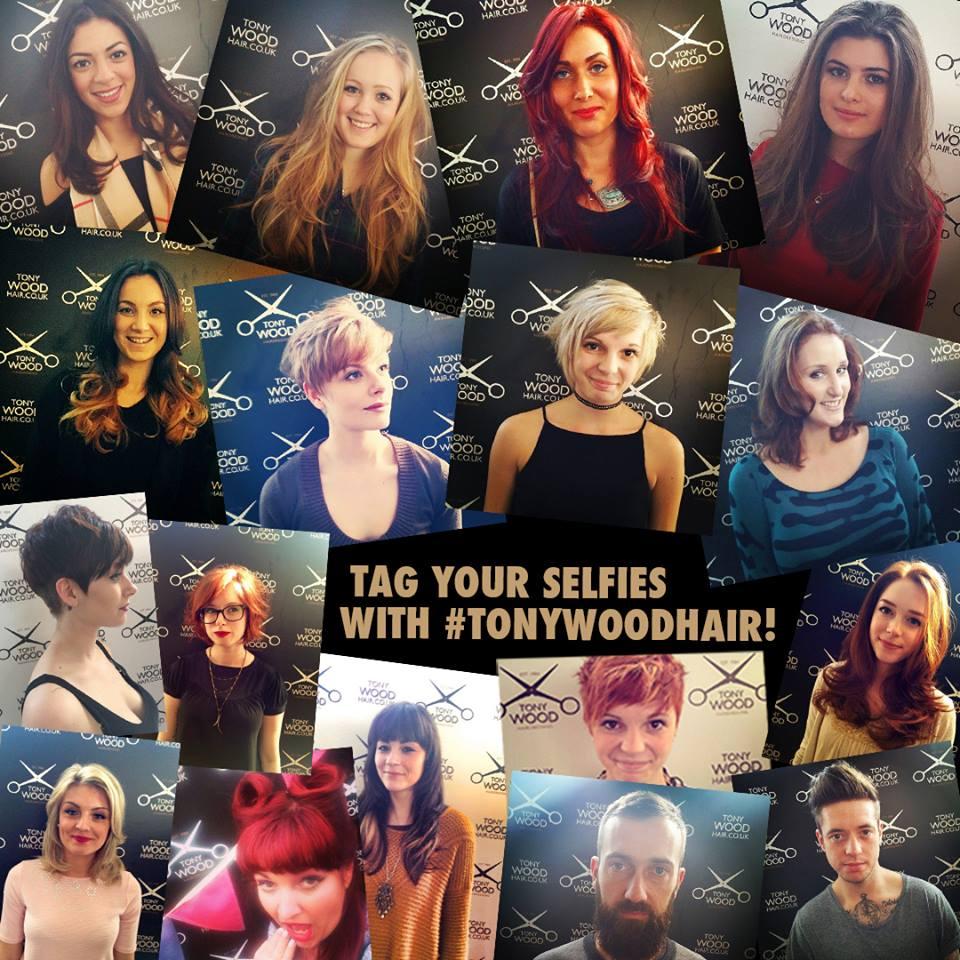 The Tony Wood Hair selfie board