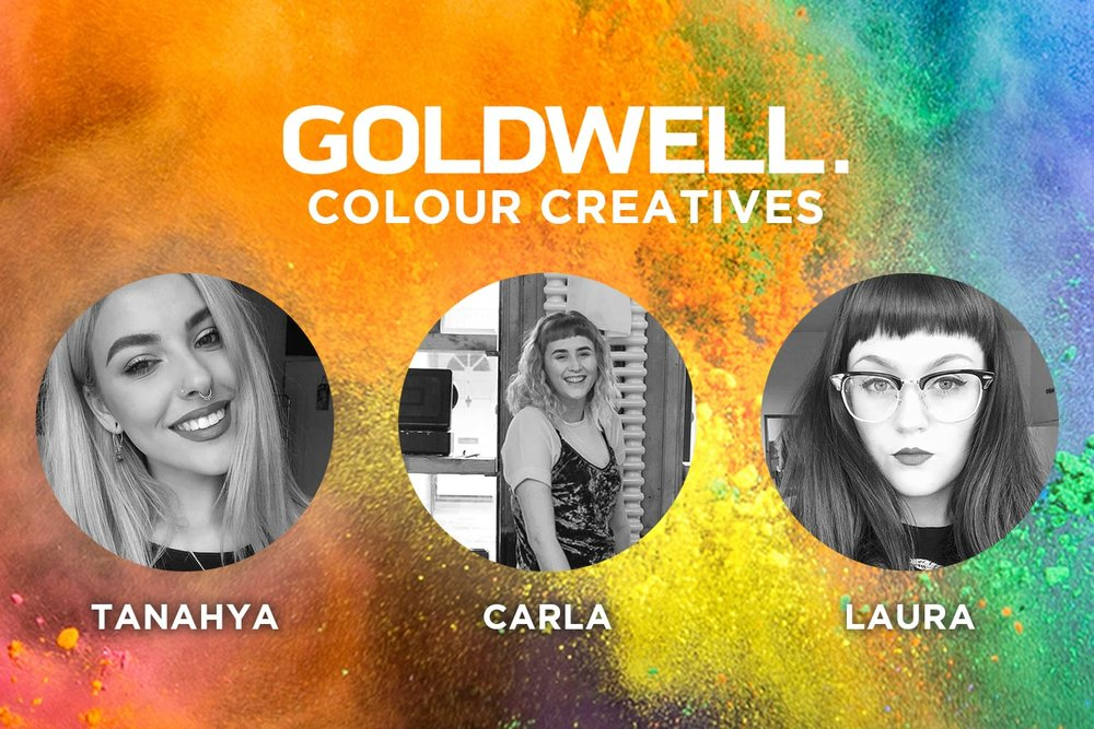 Three Tony Wood Hair stylists selected for Goldwell 'Colour Creatives' 2018