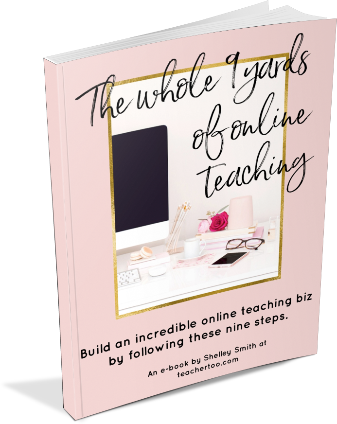 Free e-book - The Whole 9 Yards of Online Teaching - from TeacherToo