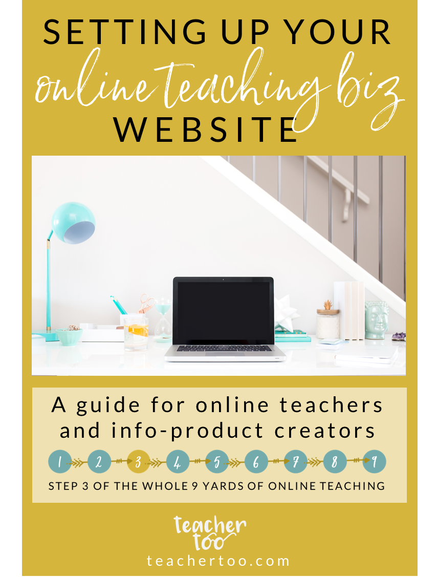 Website building for online teachers and e-course creators