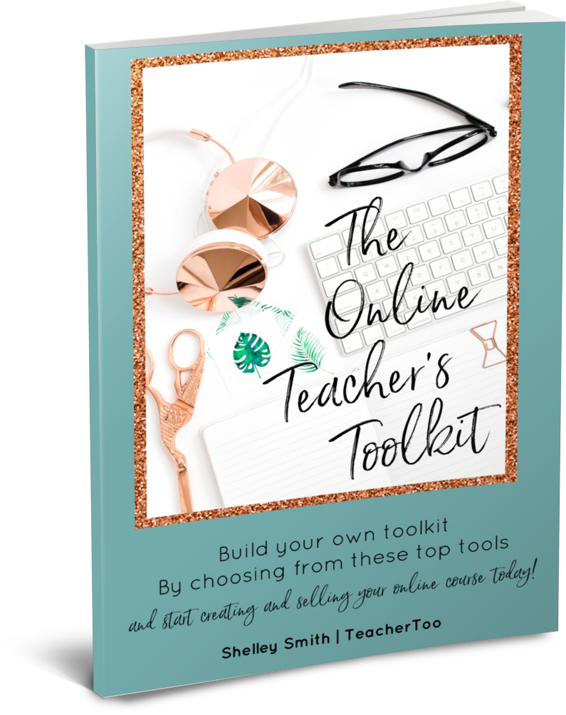 Get the Online Teacher's Toolkit for recommendations for tools you need to build your online course.