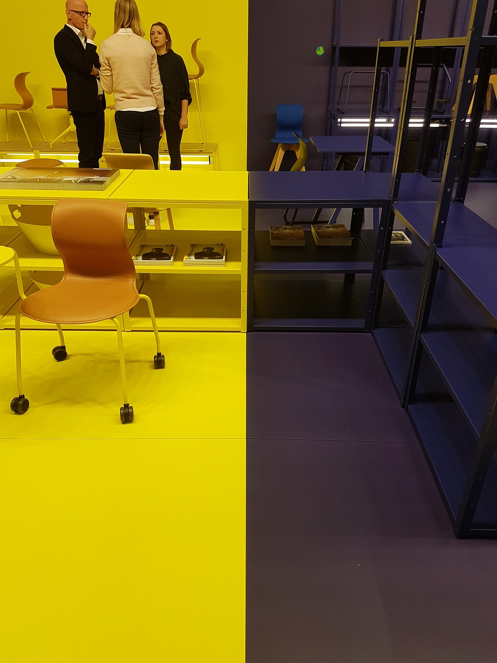 Example of impactful use of colour in commercial interior design