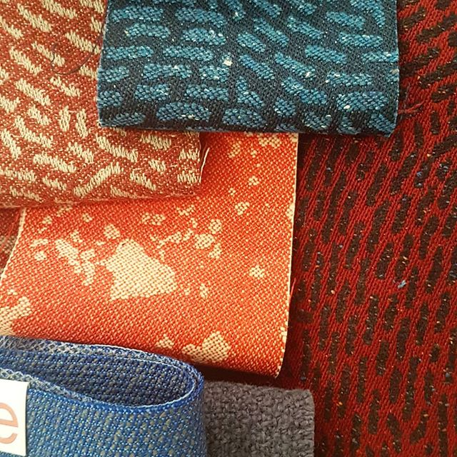 Love these fabrics from @colourtexturebute especially their new collection designed from finger prints of their staff! #peoplemakeproduction #staffengagement #workplacedesign #interiordesign #upholstery #officeinteriordesign #makingworklive