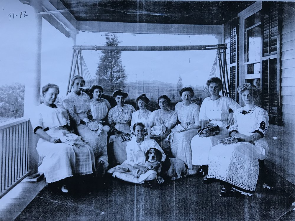 Mrs. Julia Clark Post (far right)