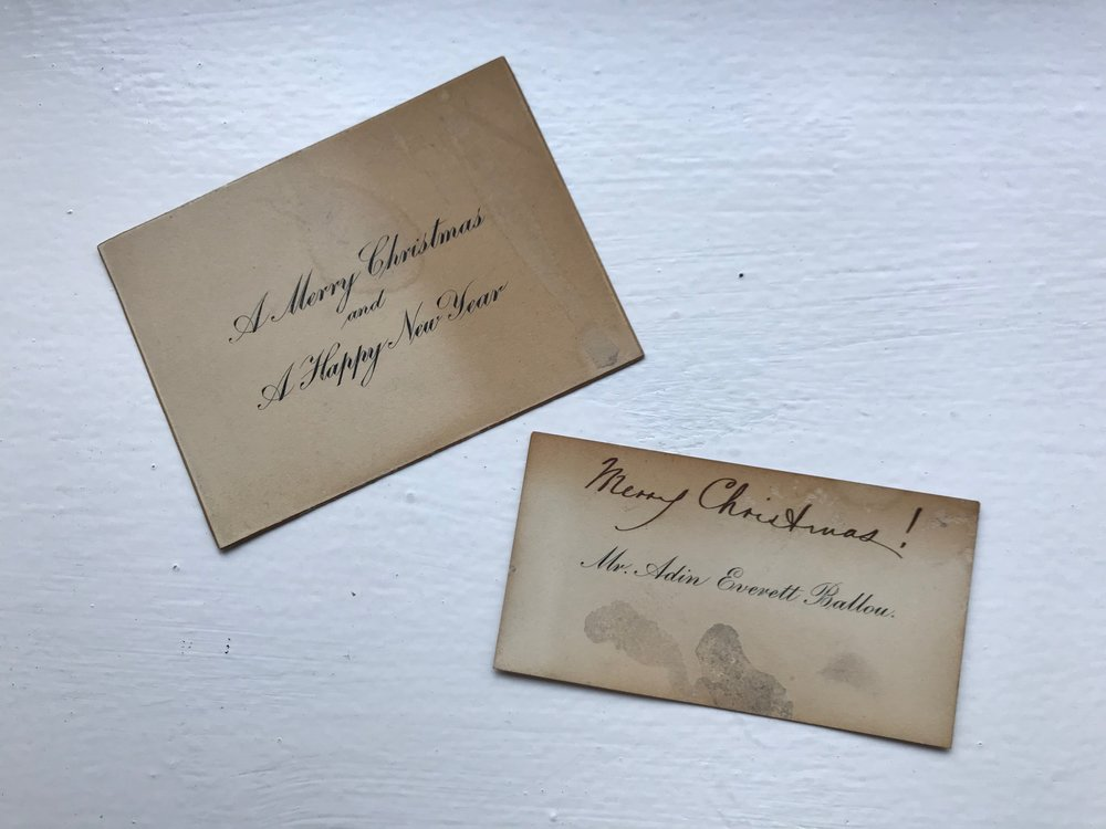 Christmas Cards From The Post Cottage Circa 1920