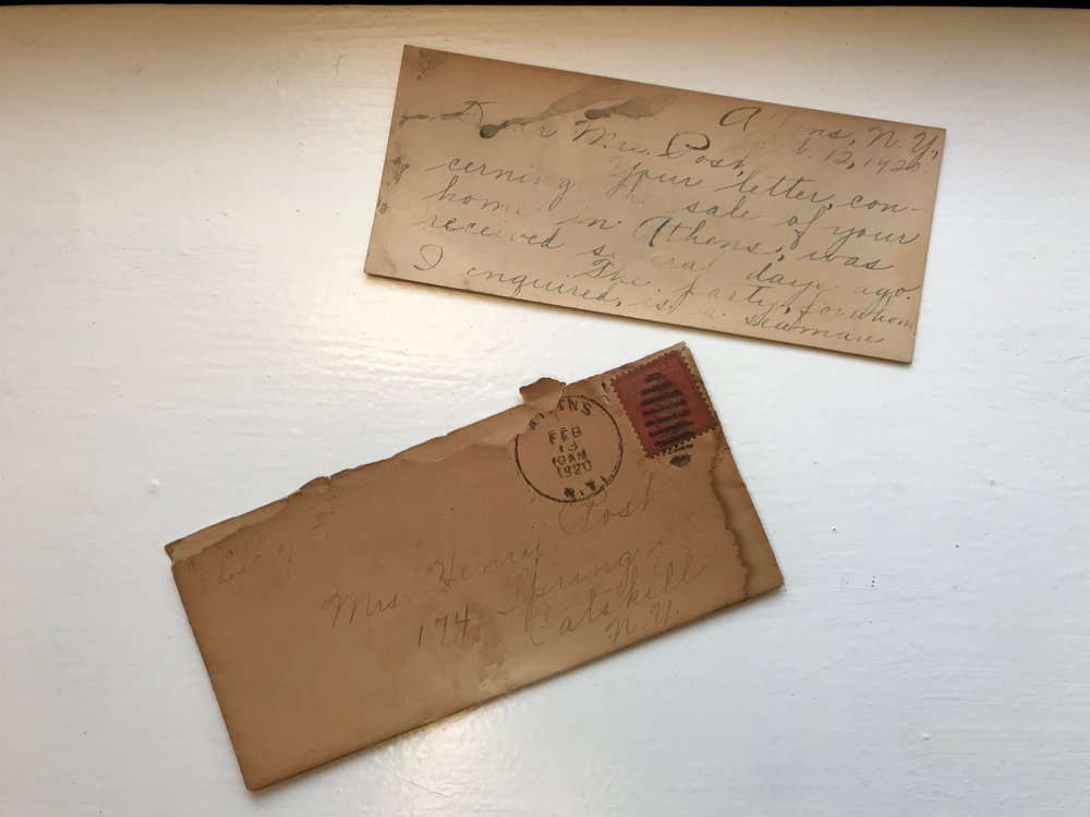 A Letter To Mrs. Post Circa 1920