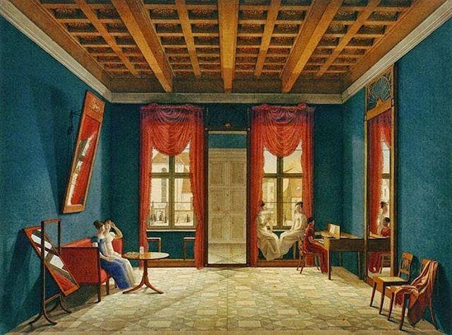 """Johann Erdmann Hummel's """"Drawing Room in Berlin"""" - 1820-25"""