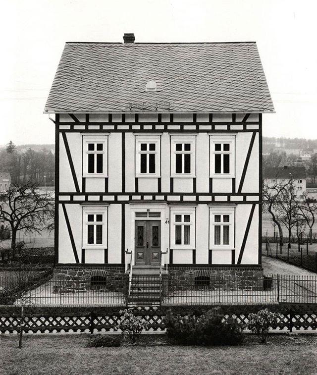 """Bernd and Hilla Becher's """"Fachwerkhäuser des Siegener Industriegebietes"""" (Framework Houses of the Siegen Industrial Region) - 1977"""