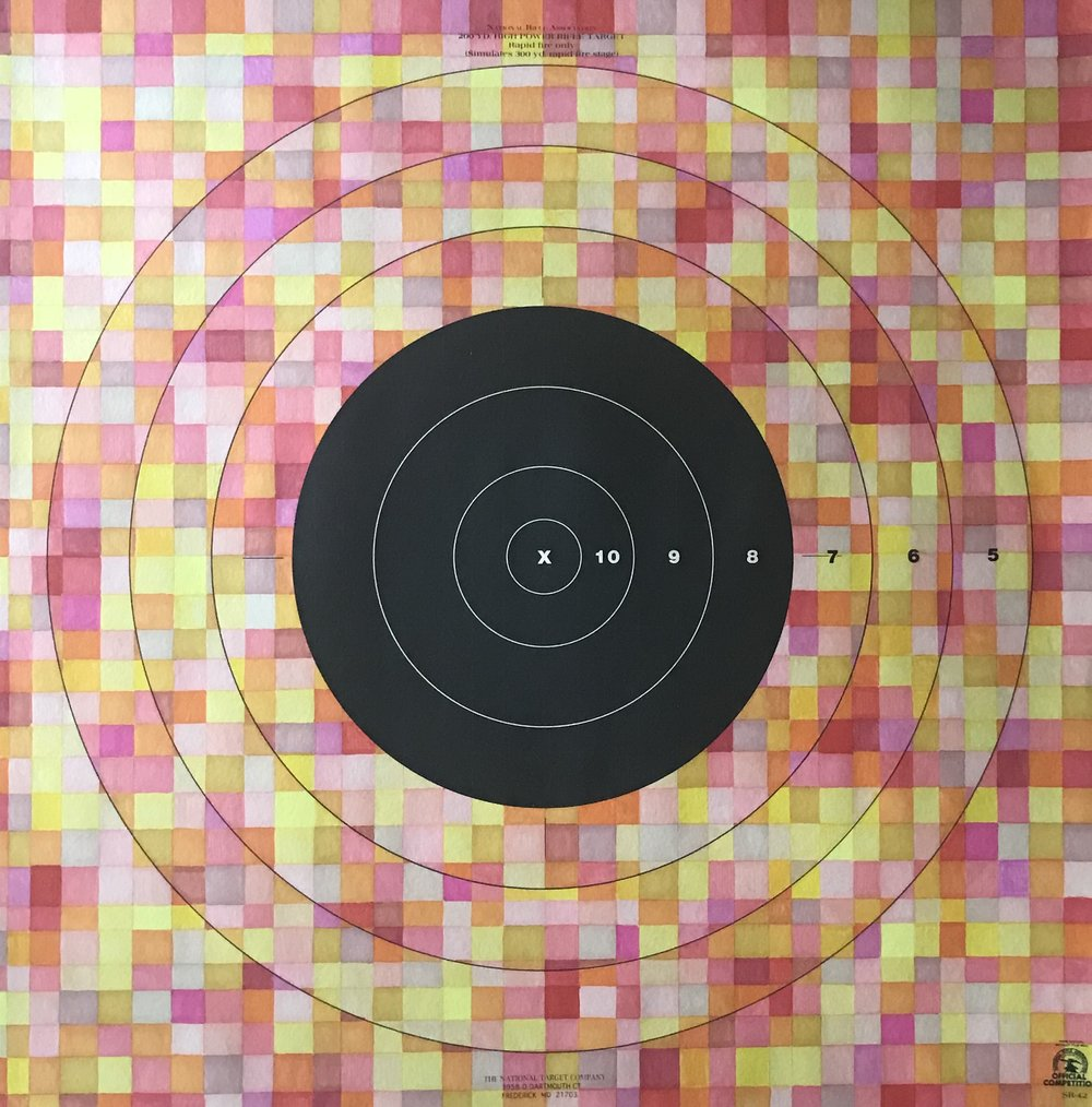 Target Practice iiI - prismacolor, 28x28