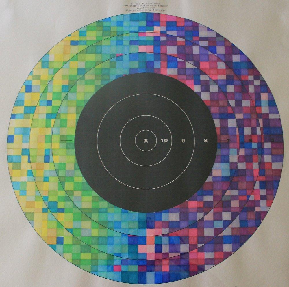 Target practice VIi - primsacolor, 28x28