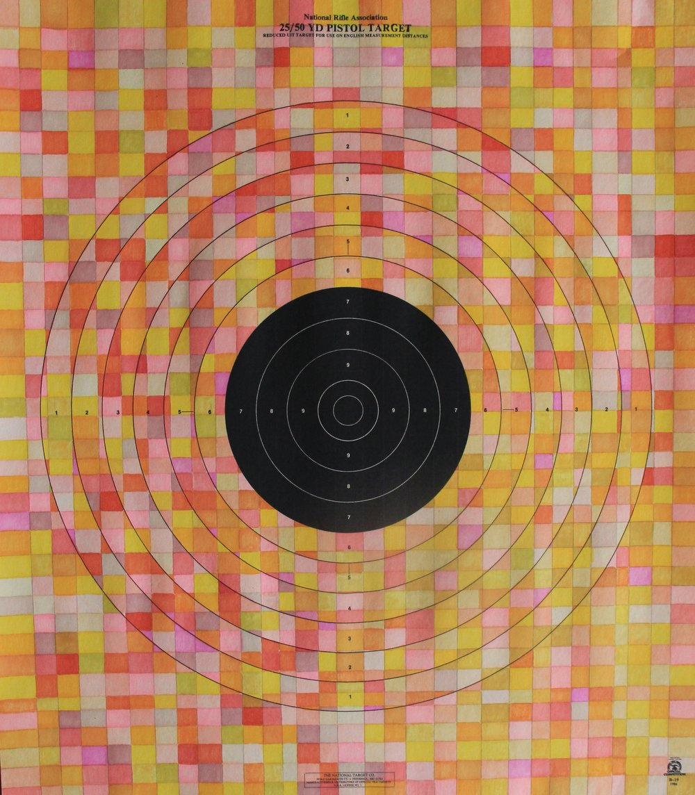 Target practice IV - prismacolor, 21x24