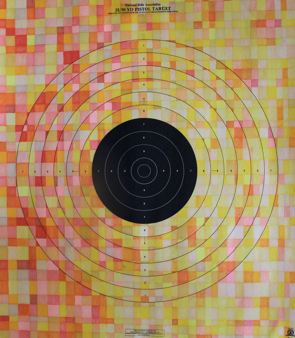 Target practice VI - prismacolor, 21x24