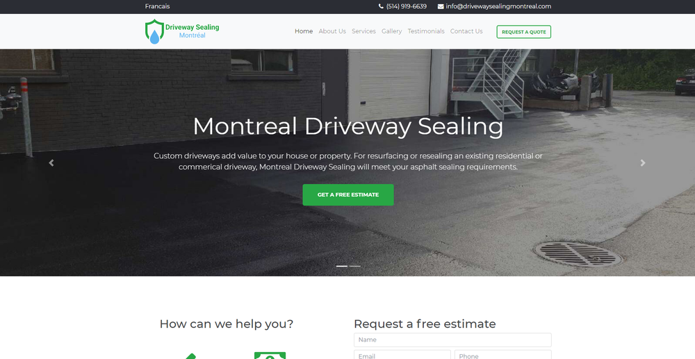 Driveway Sealing Montreal