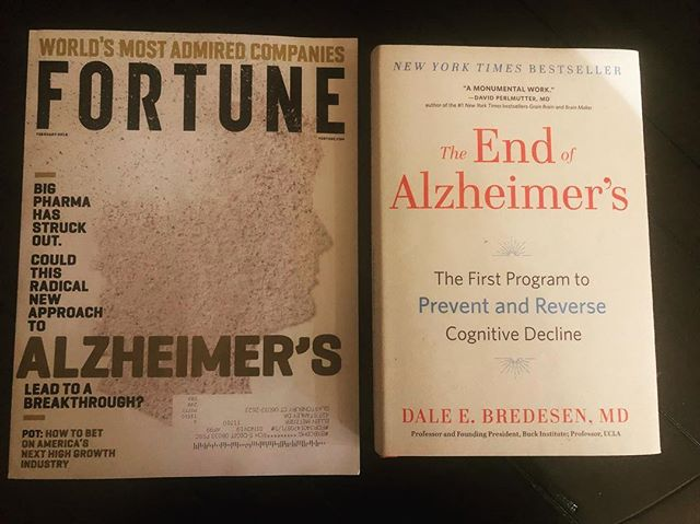 """Eureka! Check out the most recent Fortune magazine. Mainstream media reports and presents """"alternative"""" theories and treatment targets for Alzheimers...and quotes Dr. Dale Bredesen at the end of the article. Fascinating lecture btw by Dr. Bredesen at the recent Metabolic Health Summit re: rethinking the causes and therapies for Alzheimers...If """"insanity is truly repeating the same behaviors and expecting different results"""" then maybe its time we re-think the Amyloid Plaque hypothesis. If all conventional pharmacological treatments have targeted these plaques and failed (to the tune of billions of dollars)...maybe its time to look at the data and not the dogma. The article in Fortune highlights the efforts of Paul Cox, an ethnobotanist who discusses the role of L-serine as a therapeutic agent, targeting high levels of the protein BMAA. Think different and #bethechange #coffee #nutrition  #mindset #crossfit #paleo #ketogenic @tuitnutrition @drdalebredesen @metabolichealthsummit @nutritionwellnessllc @primalhealthcoach @paleofx @eat.simple.erin @marksissonprimal @theprimalblueprint @ketogeniccom @nytimes @washingtonpost @wallstreet.journal"""