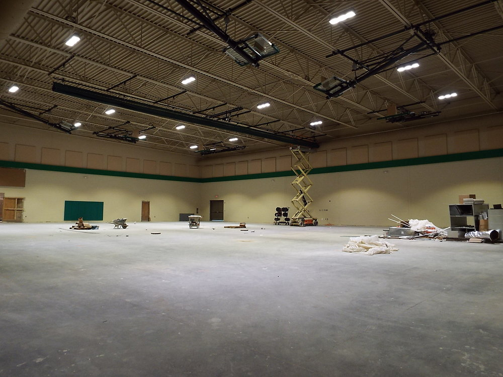 One of two large gymnasiums available for the rec league.  Photo Credit: Alicia Couch Payne
