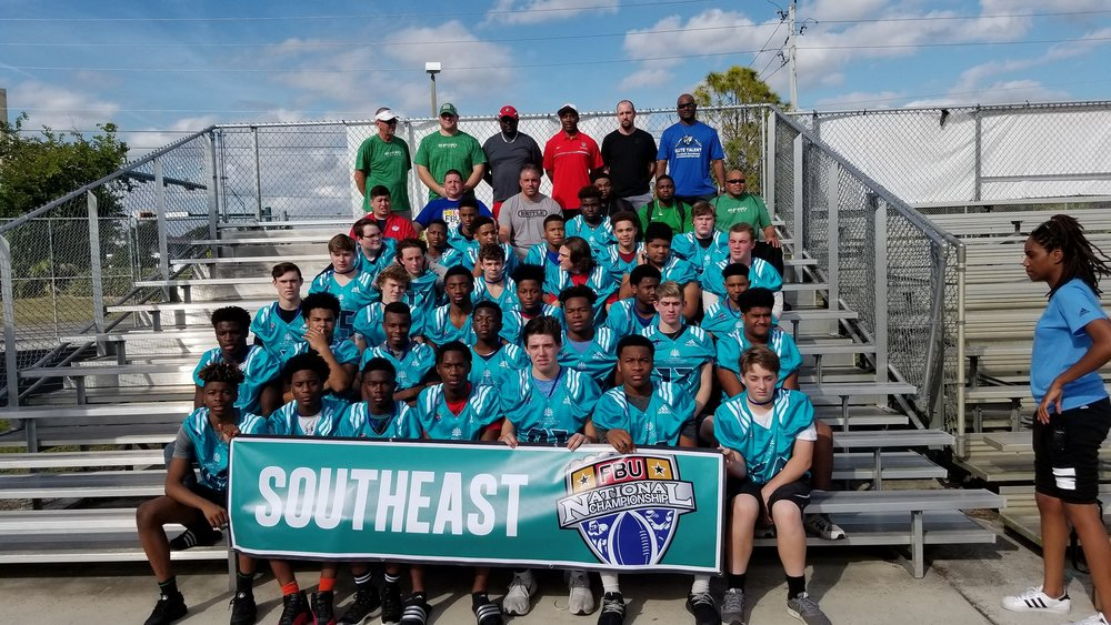 The 2017 GFL 8th Grade Football Team representing the Southeast at the FBU National Championships in Naples, FL. Photo Courtesy  Craig M Clinkscales