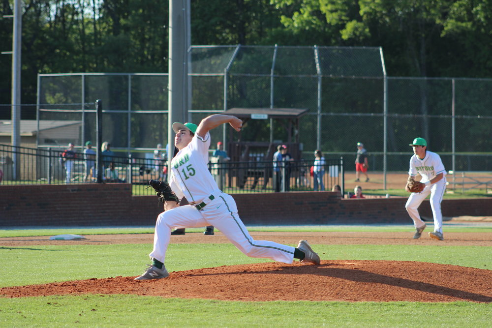 Buford pitcher Sean Adams gets the win in the second game against Rome. Photo Credit: Alicia Couch Payne