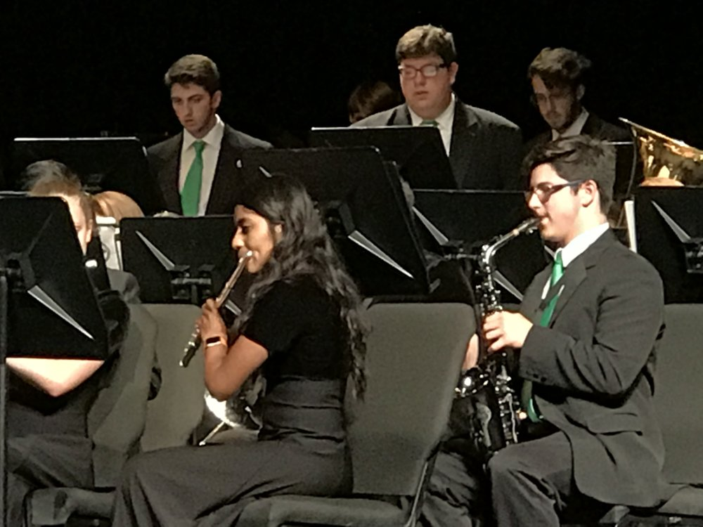 """The Symphonic Band and Wind Ensemble ended their year performing a song about twin sisters that was """"full of emotion and musical passion."""" Photo courtesy Emily Pruitt Nemec"""
