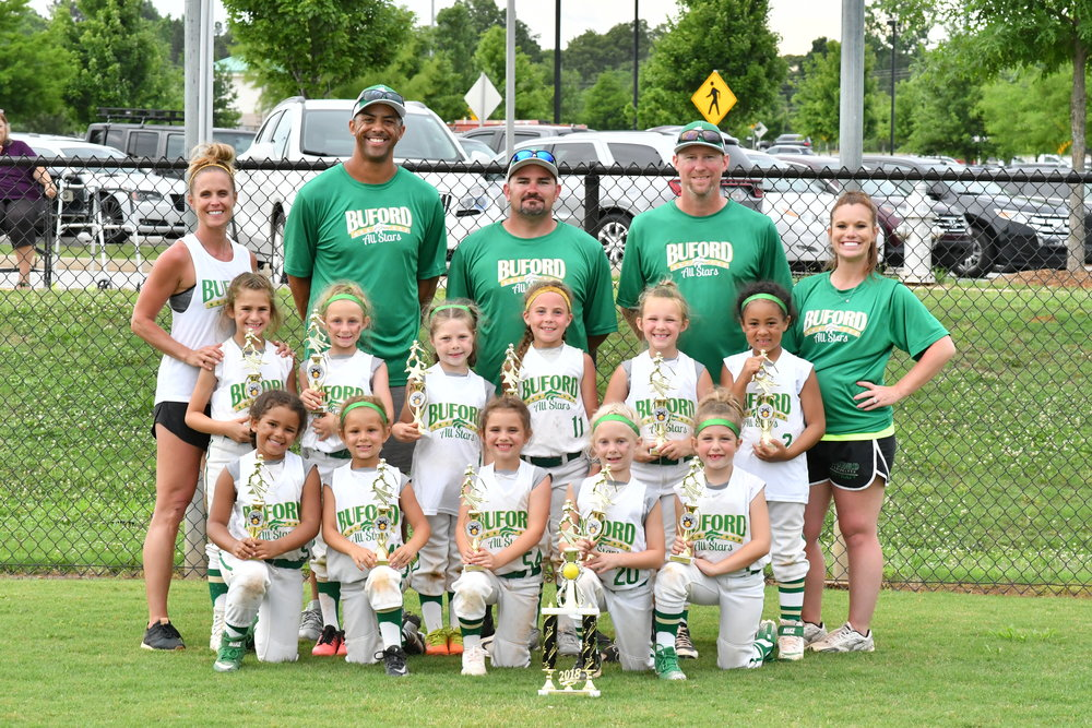 The 6U Lady Wolves All-Stars coached by Shawn Archer. Photo credit: Megan Weaver
