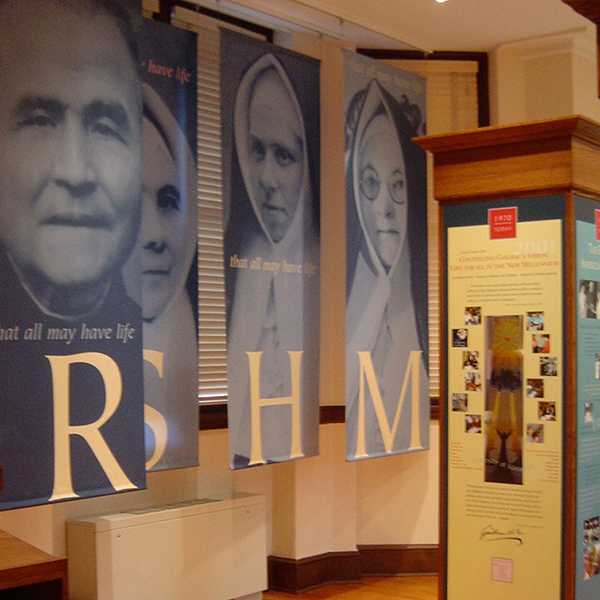 Religious Sacred Heart of Mary history exhibit