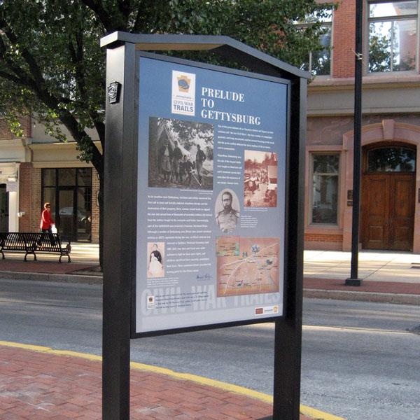 Gettysburg trail sign