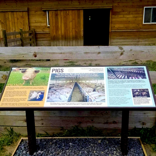 Woodstock Farm Sanctuary interpretive sign