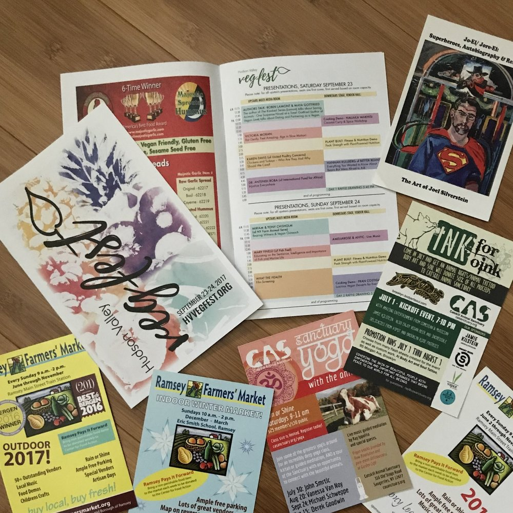 Event program, ads for magazines and newspapers