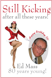 Birthday poster. Man loves the Rockettes!
