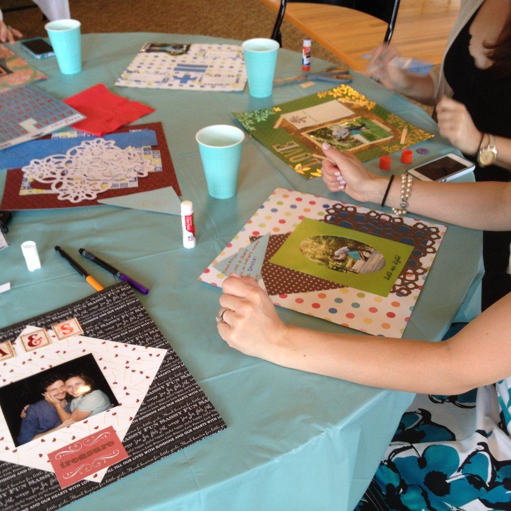 Bridal shower scrapbooking